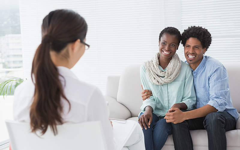 marriage and family therapy student session
