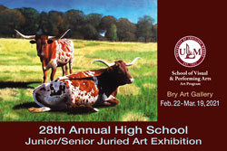 28th annual high school exhibition postcard front