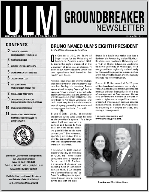 Groundbreaker Newsletter, current issue cover
