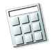 graphic icon of calculator