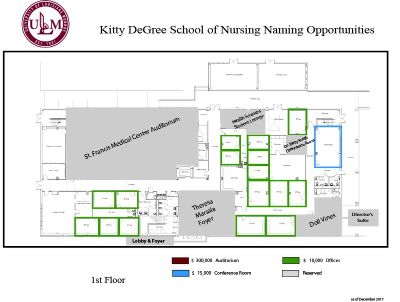 Kitty DeGree Nursing Building | ULM University of Louisiana at Monroe
