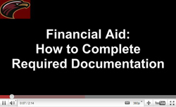 Financial Aid: how to complete required documentation