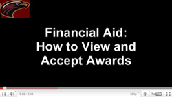 Financial Aid: how to accept awards