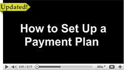 How to set up a payment plan