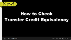 How to check transfer credit equivalency