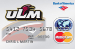 Apply today for the ULM Platinum Plus® MasterCard® with WorldPoints® Rewards from Bank of America.