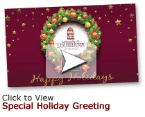 holiday greeting button