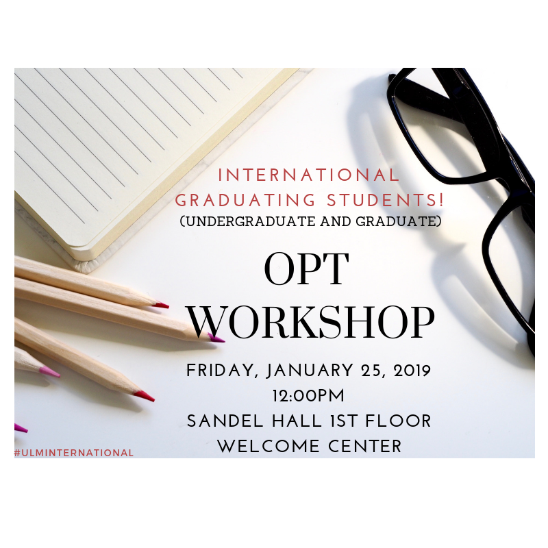 OPT Workshop January 2019