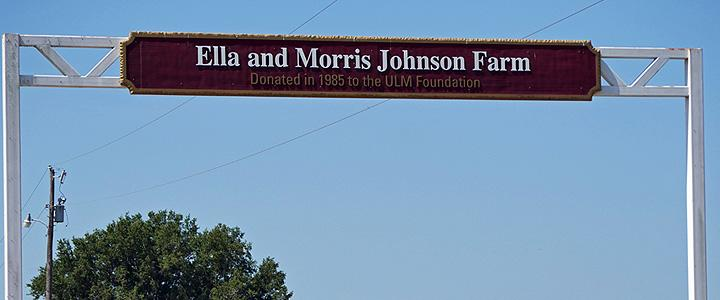 entry Sign at the Ella and Morris Johnson Farm