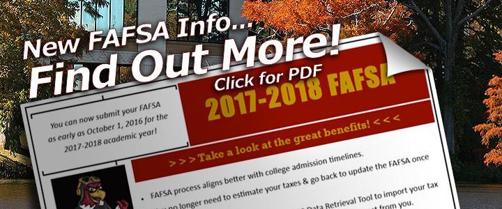 new FAFSA info