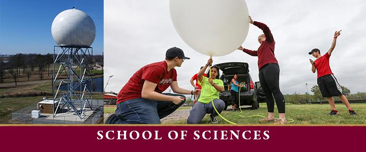 photo of weather balloon and doppler tower for sciences