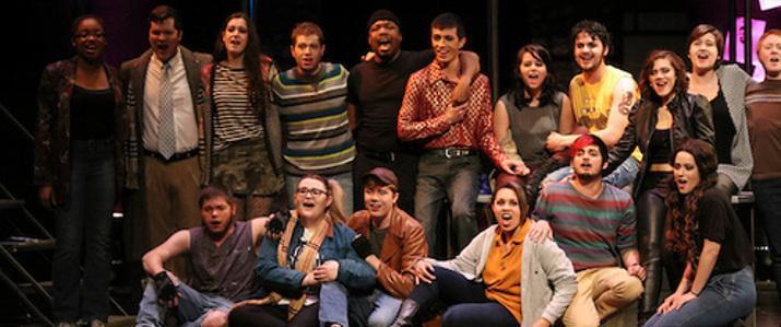 Cast of Rent, a recent VAPA production