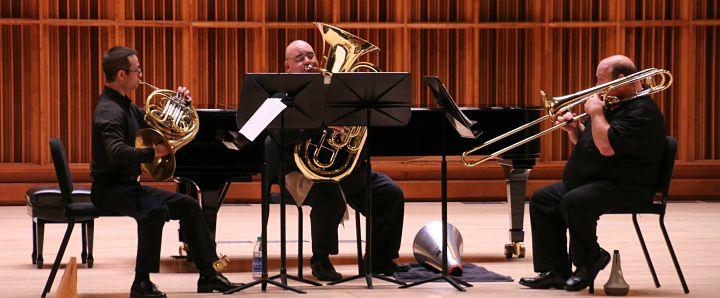Black Bayou Brass performed at the 50th International Horn Symposium. Photo by Christina Cavitt.