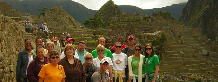 group photo at Macchu Picchu