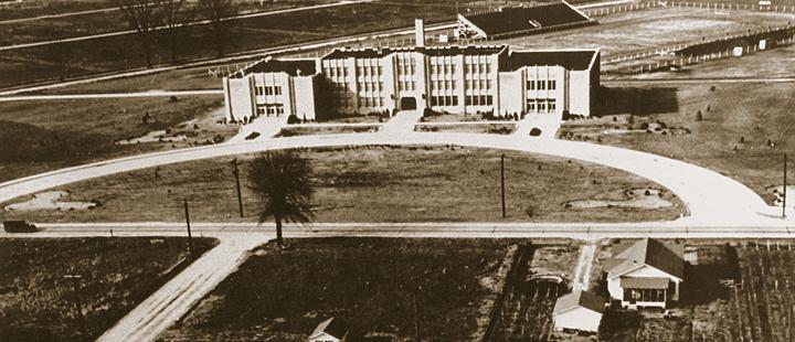 Photo of Brown Hall circa 1936