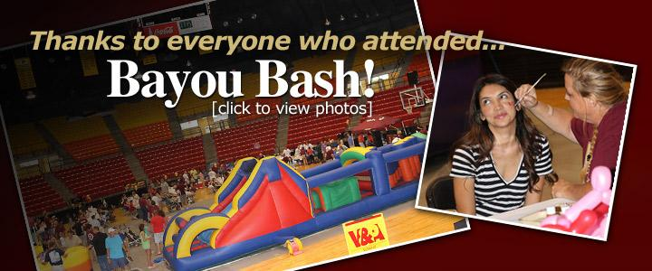 two sample photos of Bayou Bash event