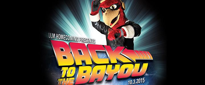 Homecoming graphic Back to the Bayou