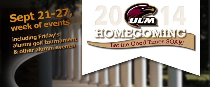 Homecoming Events September 21-27, golf tournament and more