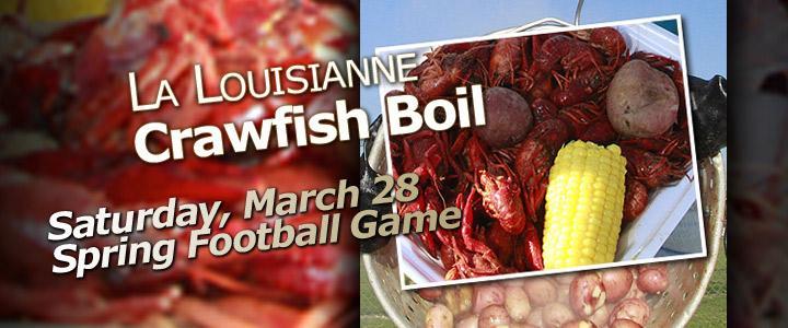 Crawfish Boil and Spring Football Game