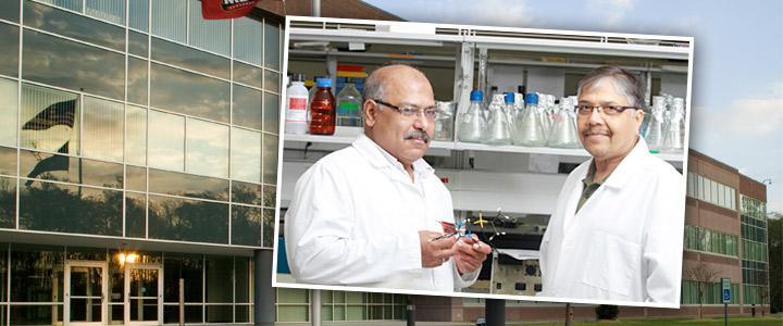 Dr. Khalid El Sayed (left) and Dr. Girish Shah