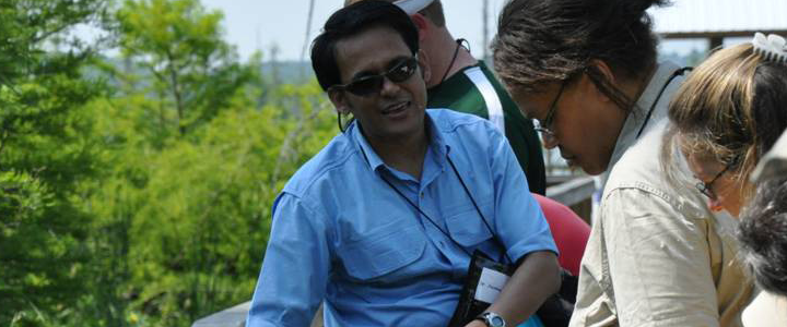 Dr. Joydeep Bhattacharjee, associate professor of biology