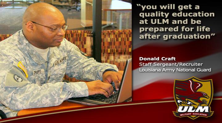 quote You will get a quality education at ULM