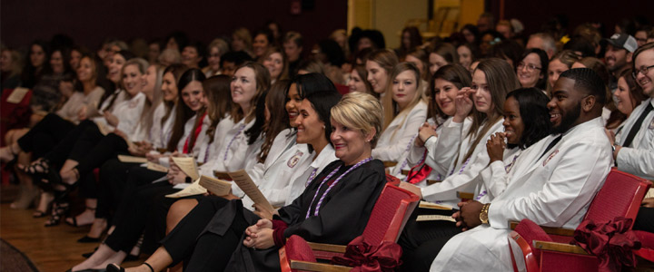 student audience at pinning ceremony