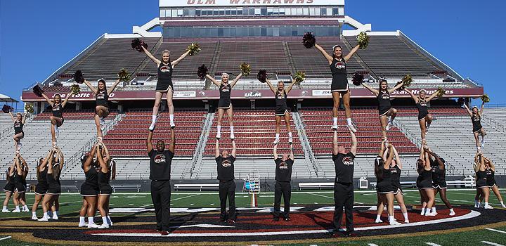 ULM Cheerleaders in Malone Stadium