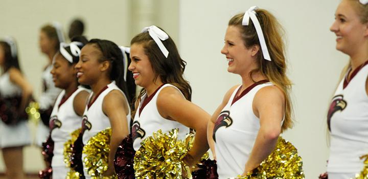 ULM Cheerleaders close-up