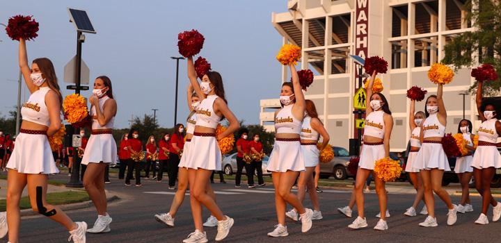 marching outside Malone Stadium
