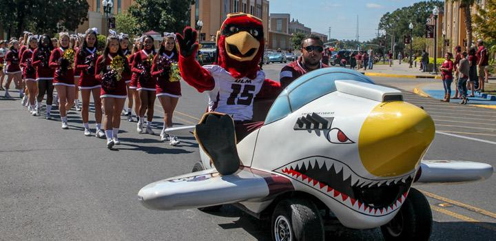 Ace leading the Homecoming Parade!
