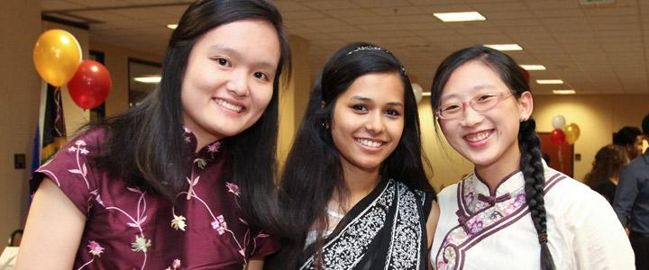 photo of three students smiling