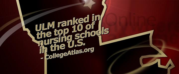 ULM Nursing ranked in top ten in nation by college atlas