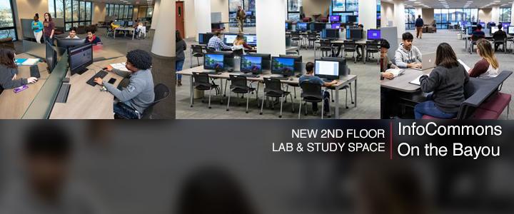 photo of lab with bayou windows
