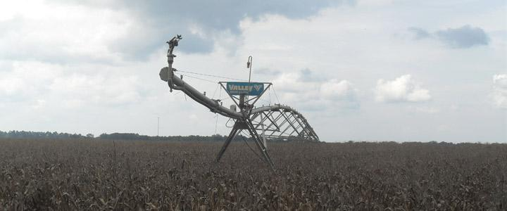 photo of corn field equipment