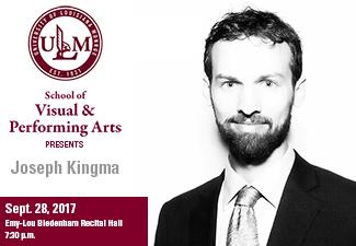 Pianist Joseph Kingma in concert Sept. 28 at ULM