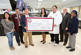 La. Cancer Foundation supports ULM breast cancer research with $10K donation