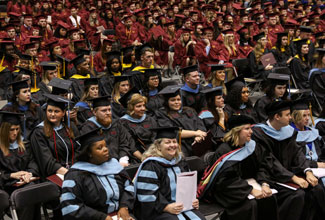 772 degrees awarded to ULM graduates; university sets historic graduation rate