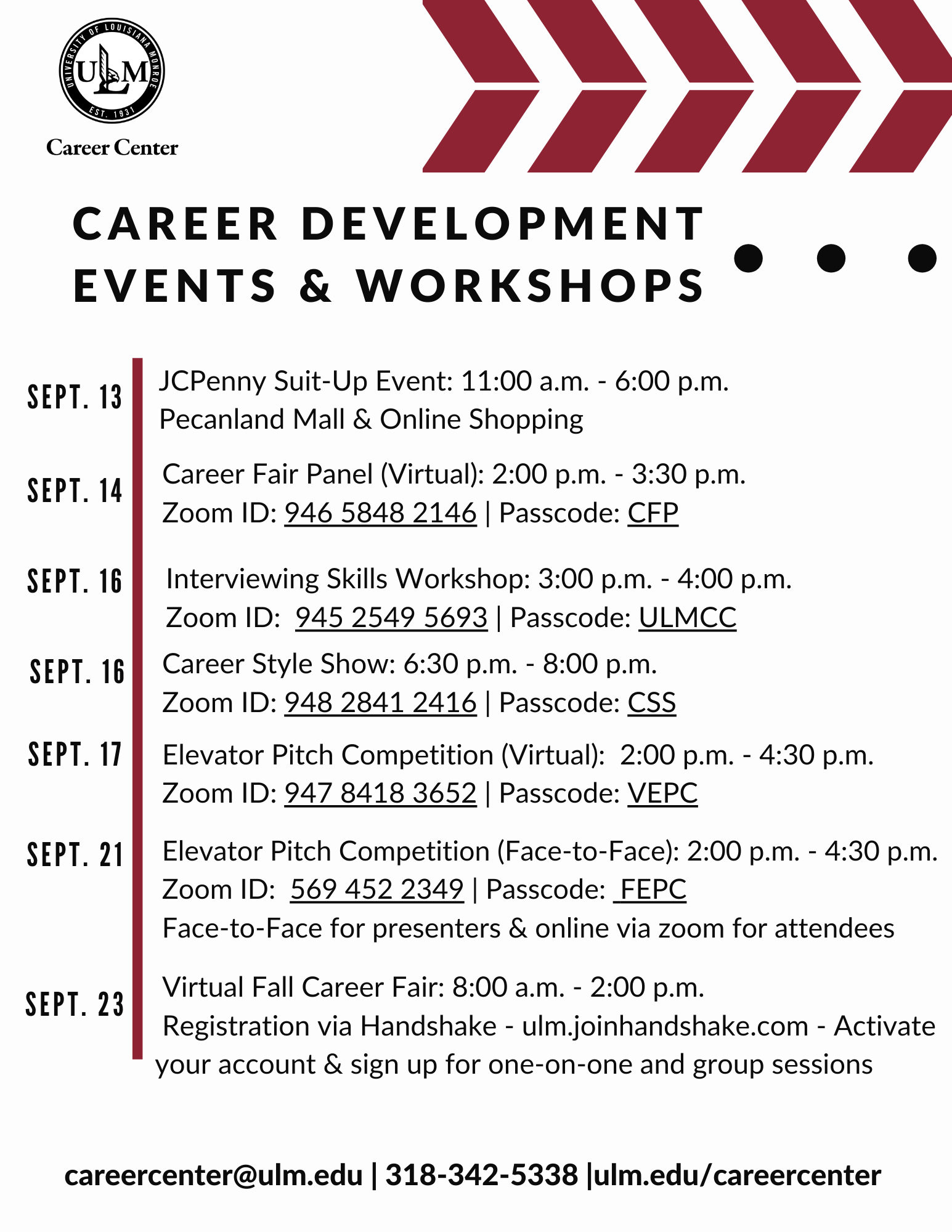 Career development month events