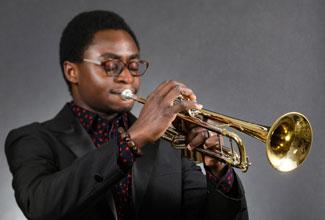 Jazz world takes note of VAPA trumpet student Solomon Abang
