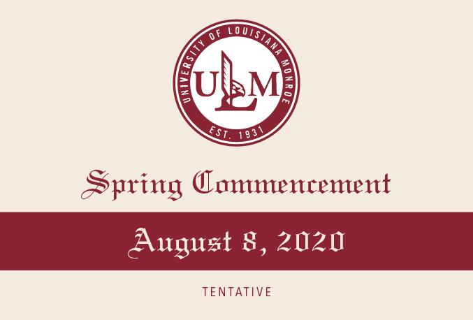 Spring 2020 Commencement postponed