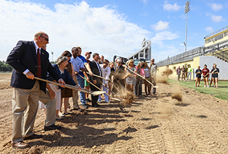 ULM breaks ground on new track, soccer field