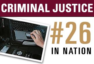 ULM criminal justice program ranked no. 26 in nation