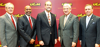 Photo of ULM and Affinity Health Care officials