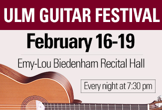 ULM Guitar Festival to be held Feb. 16-19