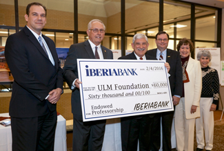 IberiaBank completes three-year pledge of $60,000 for endowed professorship