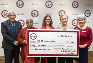 Kitty DeGree Foundation presents $50,000 for ULM neuromuscular lab