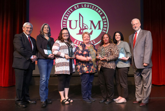 ULM Foundation recognizes outstanding faculty and staff with Awards for Excellence