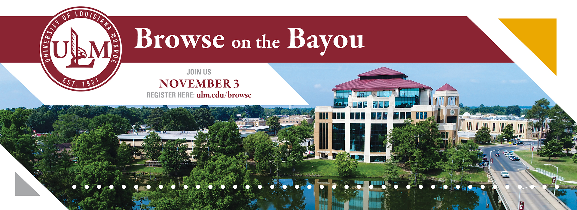 Browse on the Bayou Fall 2018 banner ad