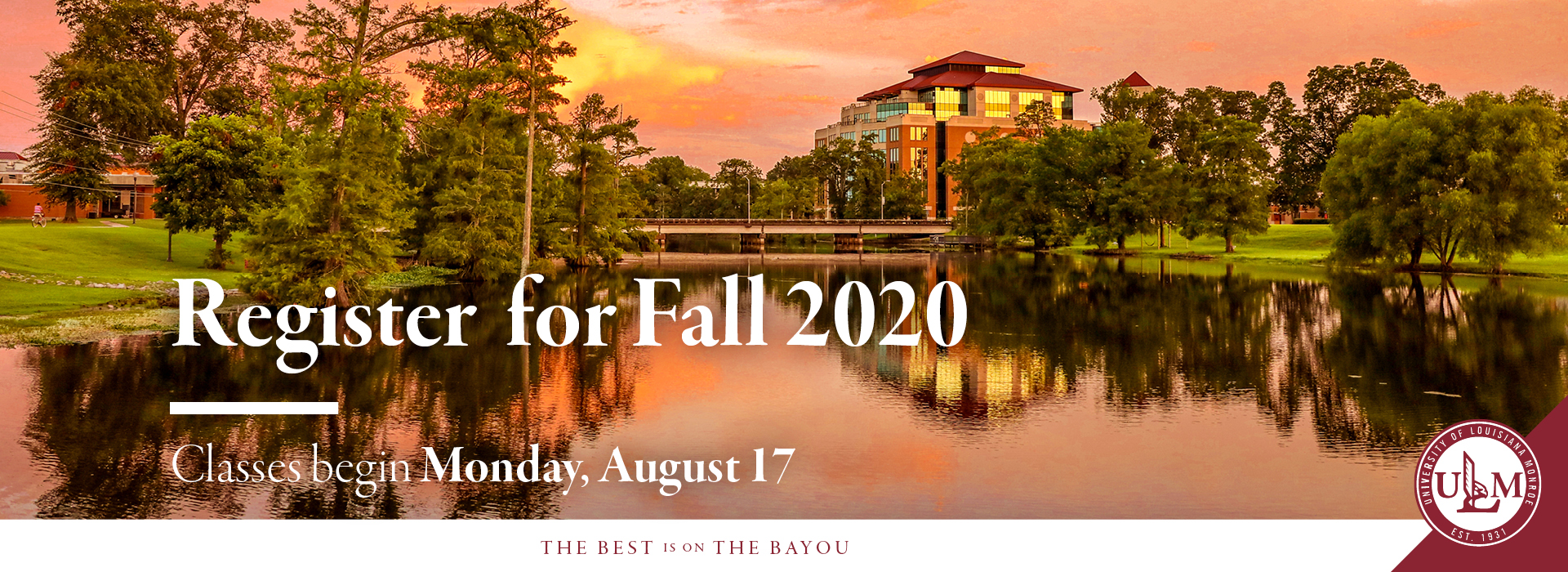 Register for Fall 2020 banner ad